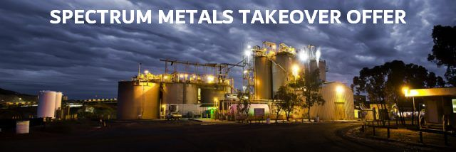 Spectrum Metals Takeover Offer